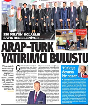 AltınTürk investment was in 13.Arap-Turk summit and Real estate Fair at Hilton İstanbul Bosphorus.
