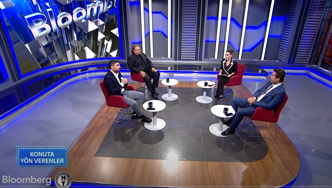 Altıntürk Real Estate and Investment President İsmail Altın hosted his guests on Bloomberg TV. / Konuta Yön Verenler