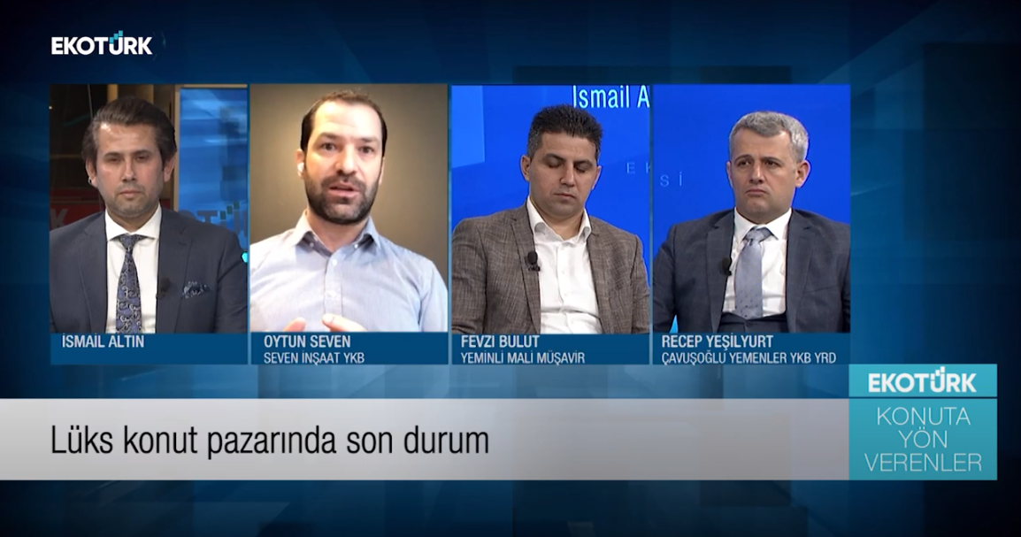 Ismail ALTIN and guests, talking about the future of real estate in Turkey