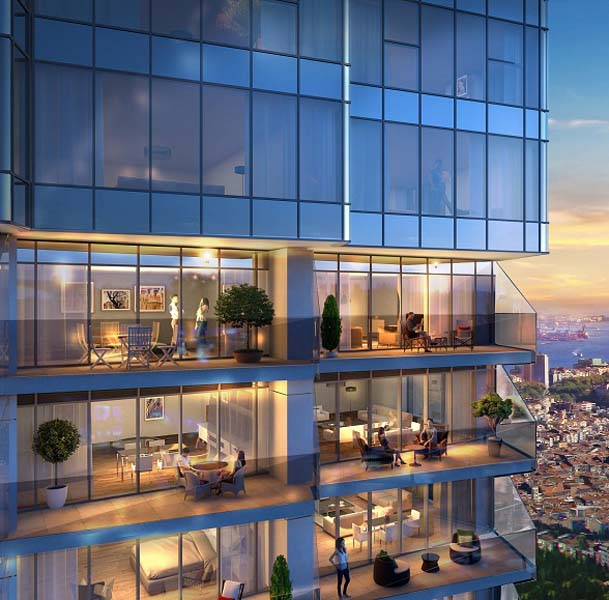 Istanbul ŞİŞLİ Residence with Sea View