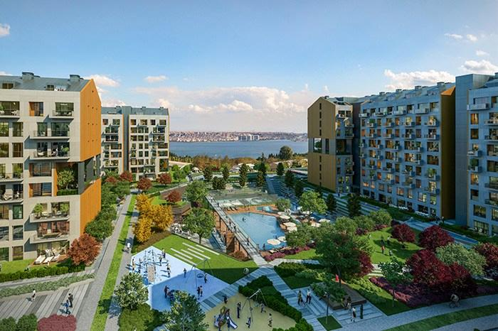Istanbul, Avcilar Ready to Move Residential Apartment with Sea View