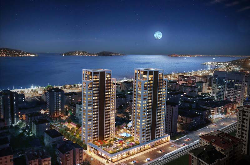 Istanbul, Kartal, Residential Luxury projects with princess Island view