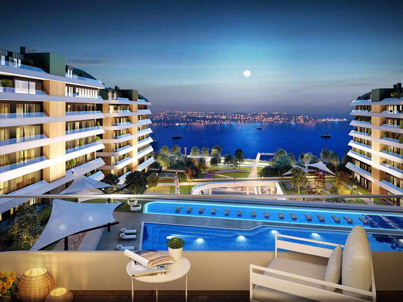 Istanbul, on the beach, sea View Residential Apartments and Villa Project